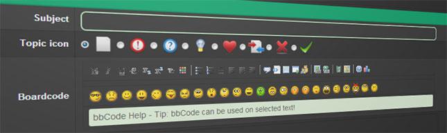 Bulletin Board Code (bbCode)